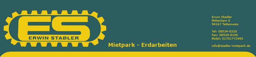 Baggerbetrieb Mietpark Stadler